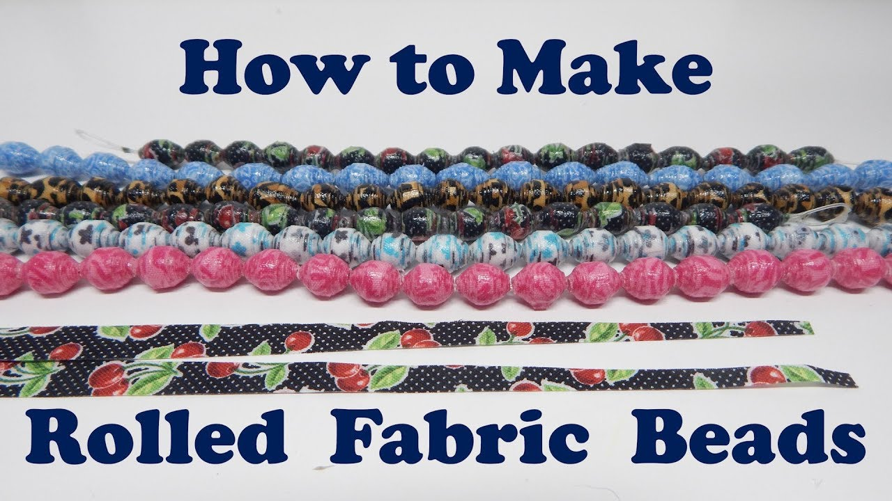 how to make rolled fabric beads youtube. Black Bedroom Furniture Sets. Home Design Ideas
