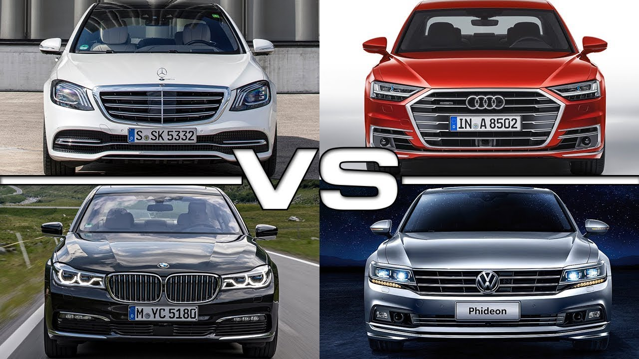 mercedes s class vs audi a8 vs bmw 7 series vs volkswagen phideon youtube. Black Bedroom Furniture Sets. Home Design Ideas