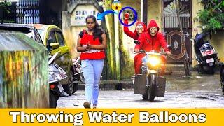 Throwing Water Balloons with twist | Throwing Water Balloons Prank |Part 2 | Prakash Peswani Prank |