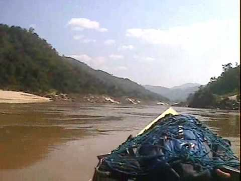 Longtail speed boat down the Mekong