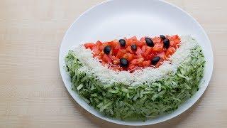 Легкий, вкусный, летний салат «Арбузная долька»
