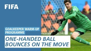 One-Handed Ball Bounces On The Move [Goalkeeper Warm-Up Programme]