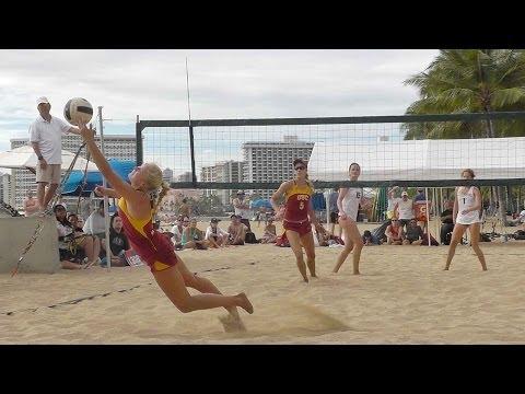 University of Hawaii UH vs USC sand beach volleyball finals
