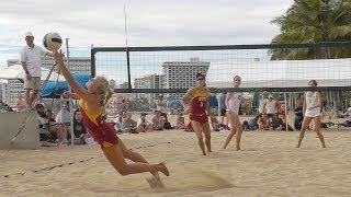 University of Hawaii UH vs USC sand beach volleyball finals