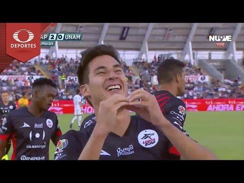 Gol de Mauro Lainez | Lobos BUAP 2 - 0 Pumas | Clausura 2019 - Jornada 9 | Televisa Deportes