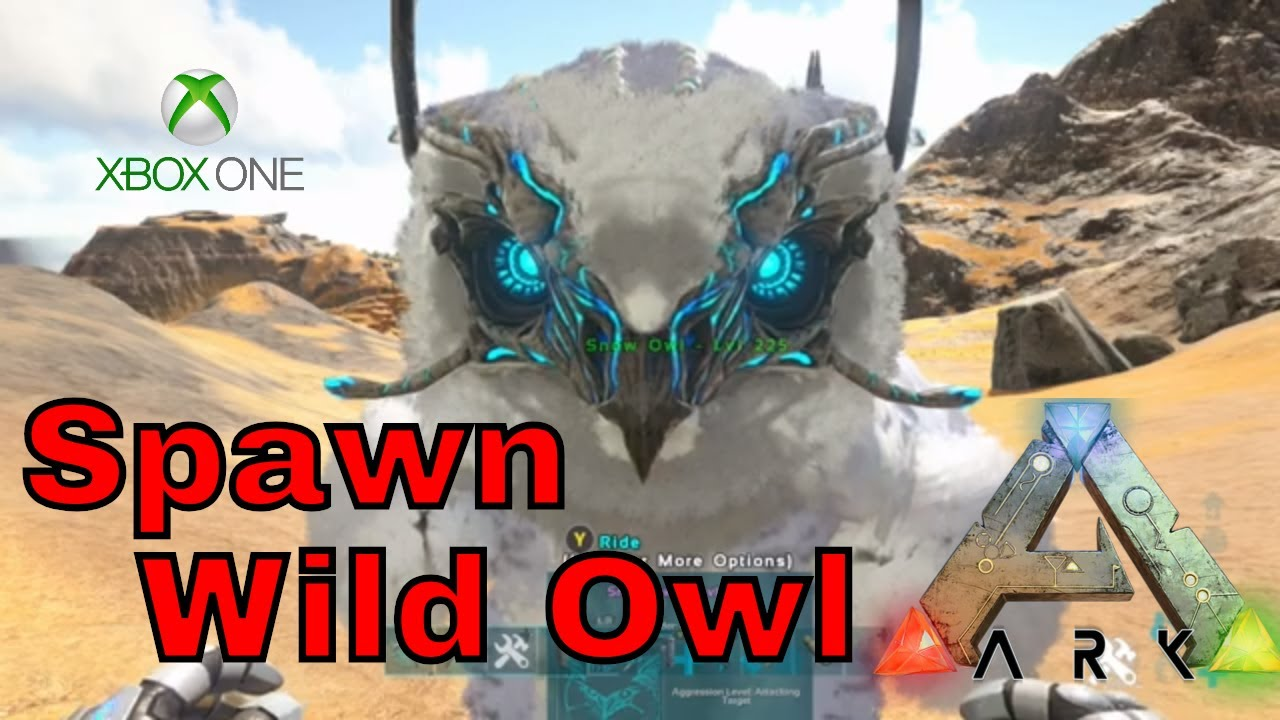 how to spawn in Snow Owl in ark xbox one and PS4