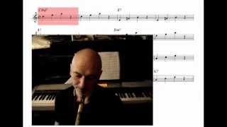 Основы импровизации. Видеоурок. Создание соло из нот трезвучий. Часть1.