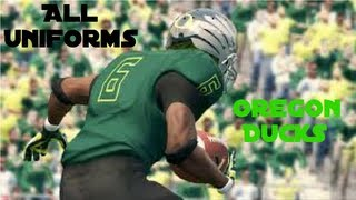 NCAA Football 14 - All Of The Oregon Duck Uniforms!