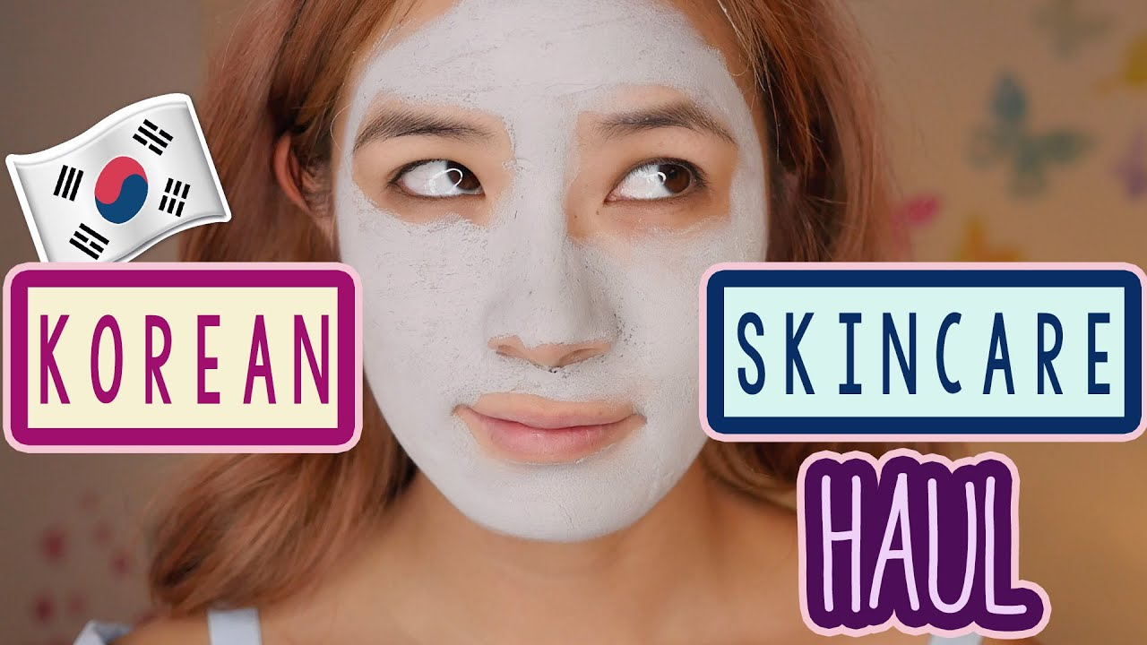 KOREAN Skincare Haul & TRY ON | Interesting Asian Makeup | iHerb