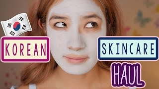 KOREAN Skincare Haul & TRY ON   Interesting Asian Makeup   iHerb