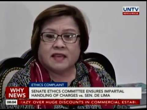 Senate Ethics Committee ensures impartial handling of charges vs. Sen. De Lima