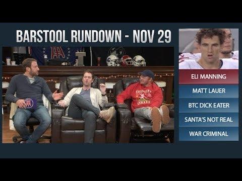 Barstool Rundown - November 29, 2017