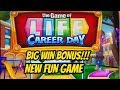 BIG WIN!  NEW FUN GAME! GAME OF LIFE CAREER DAY