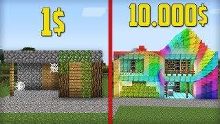 ДЕРЕВЕНСКАЯ КУЗНИЦА ЗА 1 ПРОТИВ КУЗНИЦЫ ЗА 10000 В МАЙНКРАФТ 100 ТРОЛЛИНГ ЛОВУШКА Minecraft ДОМ