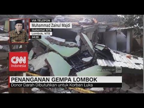 Penanganan Korban Gempa; Gubernur NTB, Muhammad Zainul Majdi (TGB)
