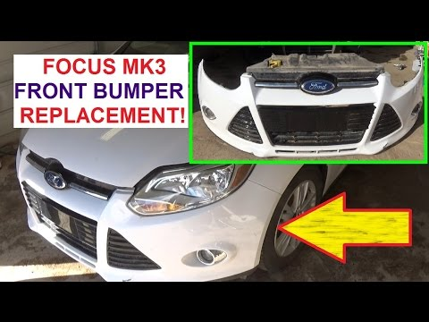 Ford Focus Mk2 Towbar Wiring Diagram Kenwood Kdc Mp342u 2 Front Bumper Cover Removal And Replacement On Mk3 2011 2012 2013 2014 2015