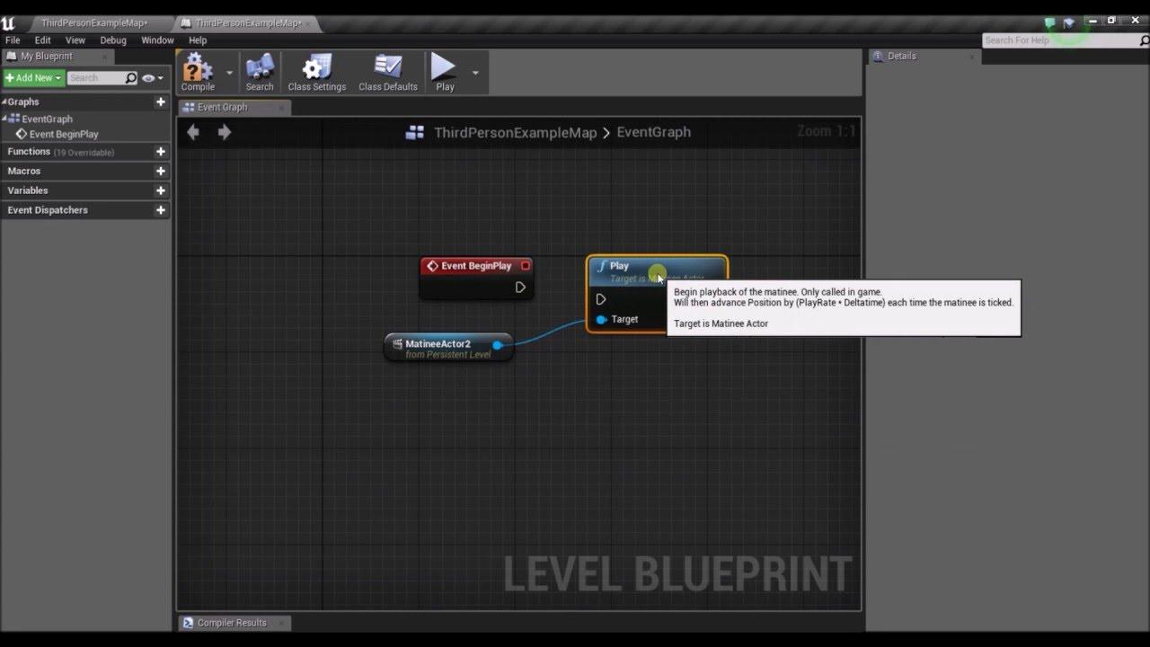 Unreal Engine 4 - Cutscene & Fade In Tutorial