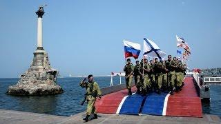 Морская пехота в действии, высадка десанта с БДК, огонь Град-М