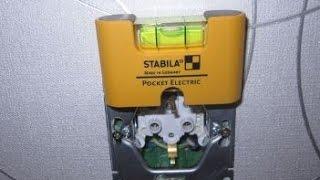 Уровень электрика Stabila Pocket Electric для установки розеток и выключателей