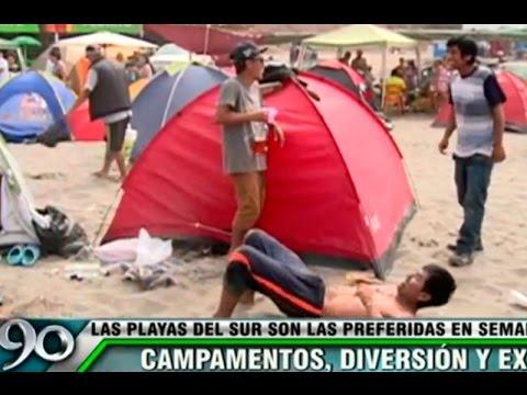 Campamentos, diversión y excesos en las playas