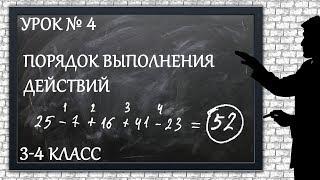Изучаем математику с нуля / Урок № 4 / Порядок выполнения действий