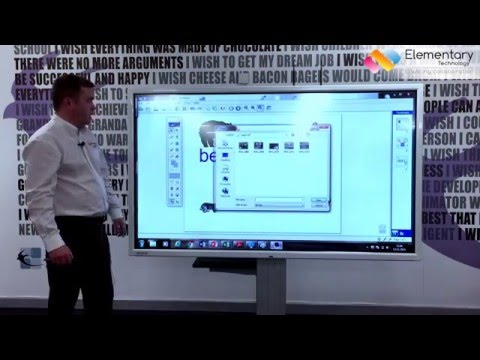 What is an interactive touchscreen for education?