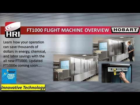 Hobart FT1000 Flight Type Dishmachine  - Feature Overview