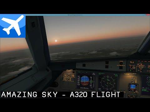 [FSX] Nice LFMN - Maastrich EHBK / Air France A321 - AWESOME Clouds Sky Sun Textures