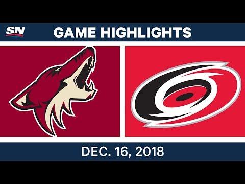 NHL Highlights | Coyotes vs. Hurricanes - Dec 16, 2018