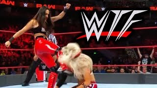 WWE RAW WTF Moments (24 September) | Brie Bella In Big Botch Horror