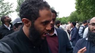 *2015* Hyde park Speakers Corner Christian VS Muslim - IS Muhammad Reliable?