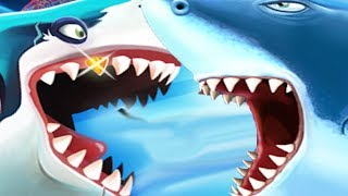 HUNGRY SHARK WORLD vs HUNGRY SHARK EVO - New Shark Drago Vs Shark Moby Dick