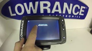 Lowrance Elite 7 Ti Pt.6 Reset and Screen Calibration Procedure