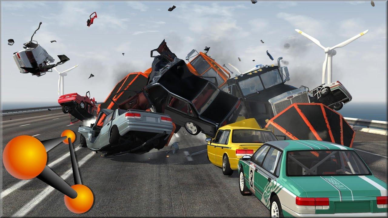 How To Flip Cars >> Beamng Drive Flipping Cars 1 Youtube