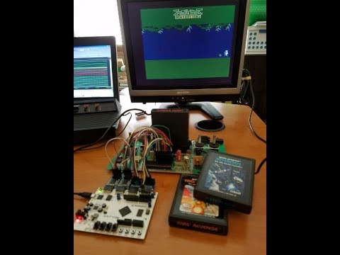 MCL65 6502 FPGA core running Jungle Hunt on Atari 2600 - YouTube