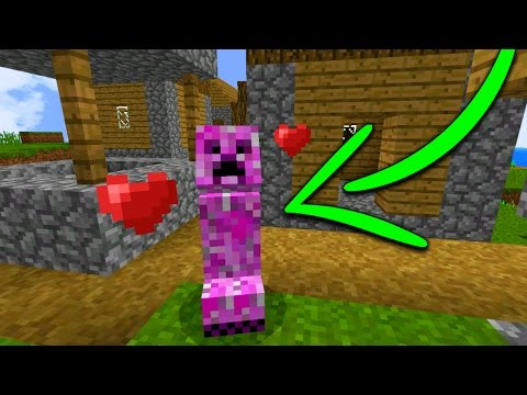 Taming a Friendly Creeper in Minecraft Pocket Edition (Elemental Mobs Addon)