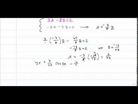 Method of Undetermined Coefficients - Superposition method