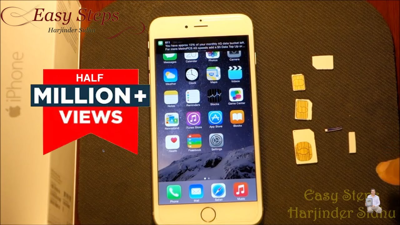 SOLVED - How to use Standard SIM in iPhone 6 Plus | make Nano SIM |  MetroPCS | T-Mobile