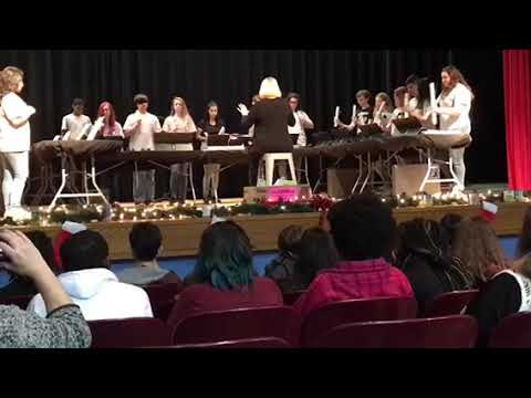 Harnett Central Middle School Holiday Handchime Performance 2017