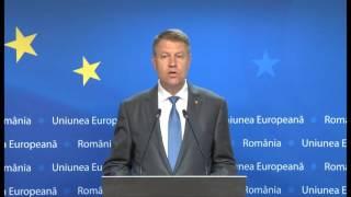 STIRIPESURSE.RO Declarația lui Klaus Iohannis după Consiliul European 29 iunie 2016