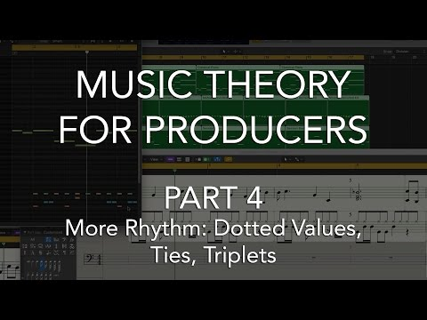 Music Theory for Producers #04 - More Rhythm, Dotted Values, Ties, Triplets