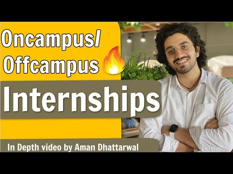 How to get an Internship in India ?   How to crack Top MNC's   Which semester is the best  
