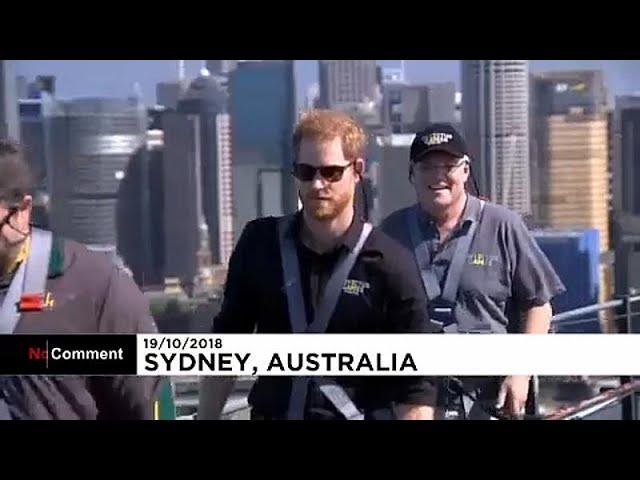 """Принц Гарри """"покорил"""" мост в Австралии"""