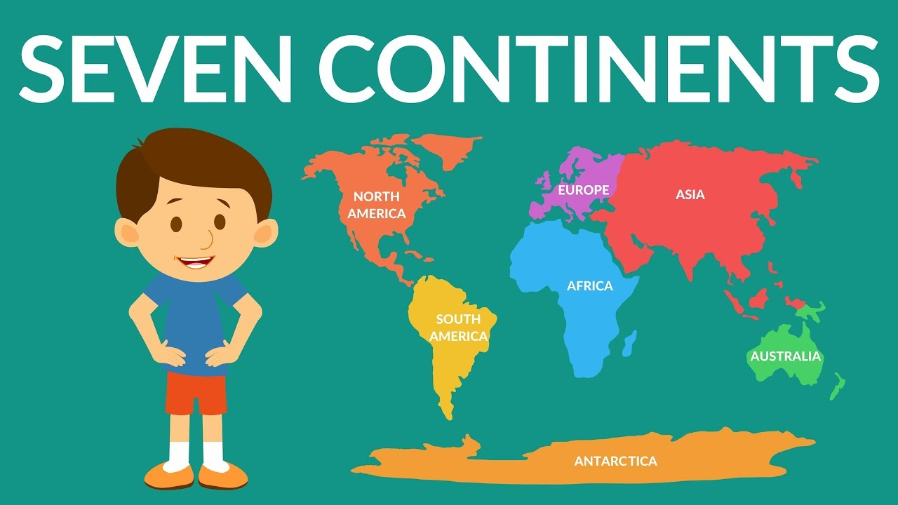 Seven Continents of the world - Seven continents video for kids ...