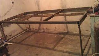стол-платформа для сварки  своими руками. Self made platform for welding.(Стала необходимость сделать себе стол для сварки . Надоело корячится и выставлять всё на неровном полу..., 2017-02-24T20:03:42.000Z)
