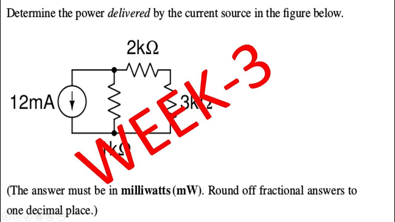 nptelbasic electrical circuit assignment solution 2018 august