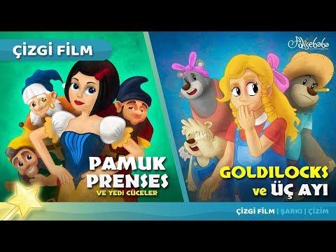 2 Masal | Pamuk Prenses - Goldilocks ve Üç Ayı | Adisebaba Masal