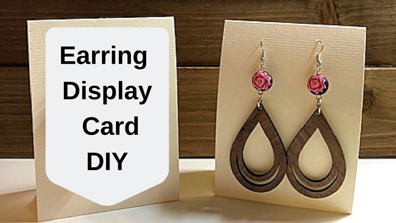 Earring Display Card Diy For Craft Fairs