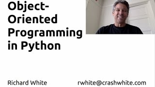 Intro to Object-Oriented Programming in Python, part 1