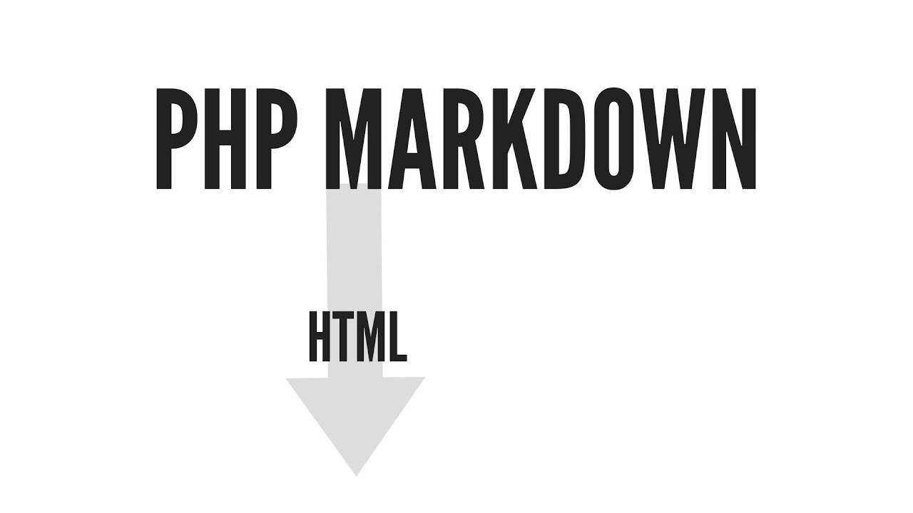 Using Markdown With PHP